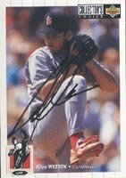 Allen Watson St. Louis Cardinals 1993 UD Collectors Choice Autographed Hand Signed... by Hall of Fame Memorabilia