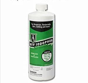 National Chemical BTF Iodophor Sanitizer Cleaner for Home Brew Kegs, 32 oz