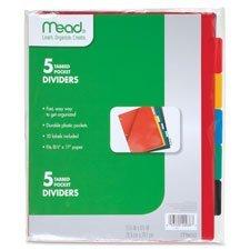 Mead MEA20038 Tabbed Pocket Dividers, 5 Per Pack