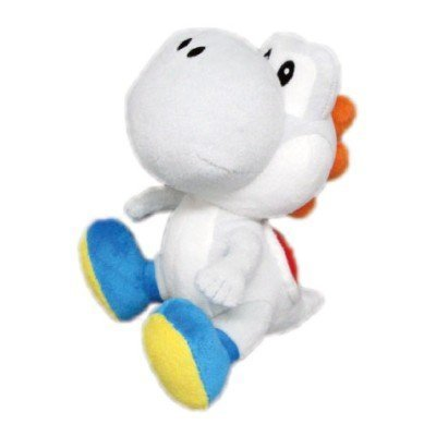 "Sanei Super Mario Series Plush, 6.5"", White Yoshi"