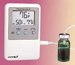 Llg-exact-temp precision thermometers, blue spirit-filled