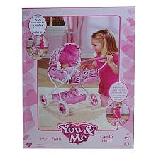 You & Me 3 In 1 Doll Pram - Assorted Styles And Colors