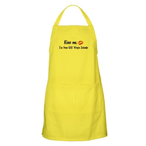 Cafepress Kiss Me: U.S. Virgin Islands BBQ Apron - Standard