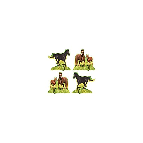 Creative Converting Unisex Adult Wild Horses Centerpiece Black Medium