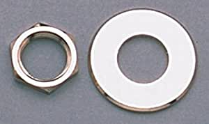 2 Nut & 2 Washer for Schaller Strap Locks Nickel Allparts AP-6691-001