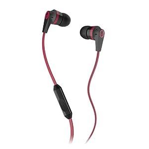 Skullcandy S2IKDY-010 Ink'd 2.0  Earbud Headphones with Mic (Black/Red)