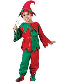 Fun World Costumes Baby Girl's Child Elf Costume, Red/Green, Large