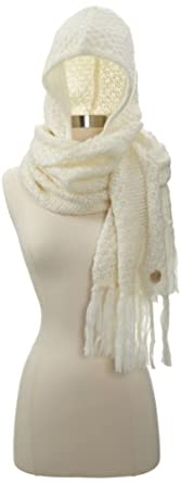 Vince Camuto Women's Scarf with Fringe, White, One Size