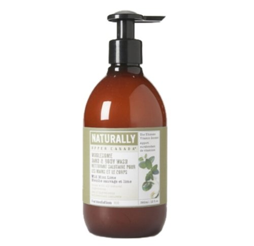 Upper Canada Soap And Candle Naturally Wholesome Hand And Body Wash, Wild Mint Lime, 12-Ounce Bottle (Pack of 2)