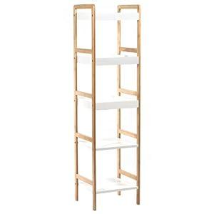 Mueble de bambu barnizado con 5 niveles