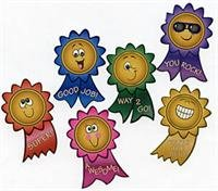 100 Motivational Smile Face Roll Stickers, 1 Roll