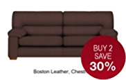 Buxton Large Sofa with Hidden Storage - Leather