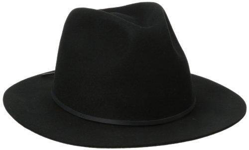 Brixton Men's Wesley Fedora Hat, Black, Small