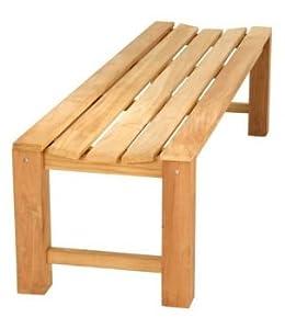 gartenbank ohne lehne teak 4 sitzer 180 cm. Black Bedroom Furniture Sets. Home Design Ideas