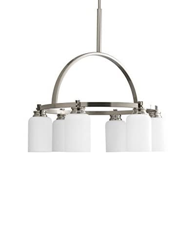 Progress Lighting Orbitz Chandelier, Brushed Nickel
