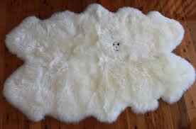 A-STAR(TM) 100% Genuine Sheepskin Area Rug Large - Quadro 4x6 Sheepskin Rug