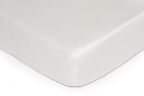 Kids Line Fitted Crib Sheet, Ecru (Discontinued by Manufacturer) - 1