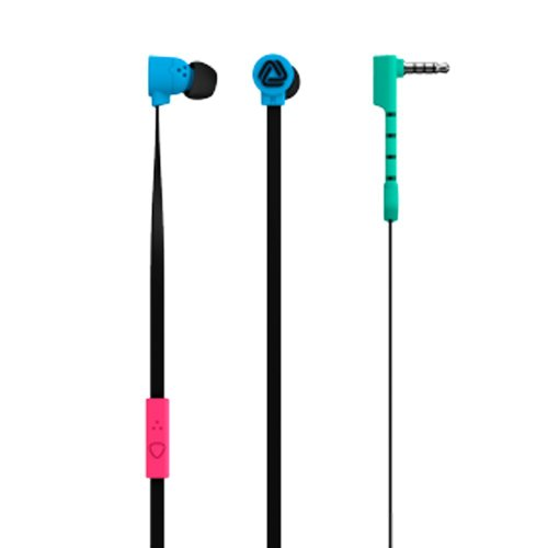 The Pop Blocks Black/Cyan/Turquoise/Magenta Earphones With Microphone And Remote