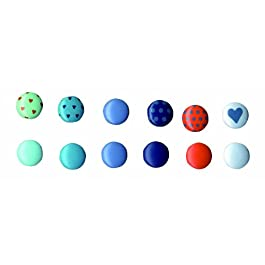 Artemio 60 piezas De Mini tachuelas redondo Boy, Multi-color
