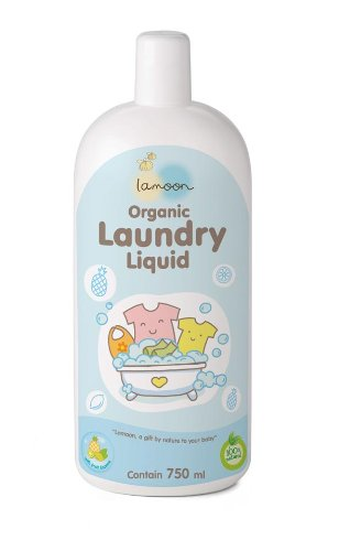 La-Moon Organic Laundry Liquid 750Ml. Mild & Gentle On Skin. No Sls, Sles/ No Parabens/ No Sulfates. [Free Organic Baby Meal Supplement]