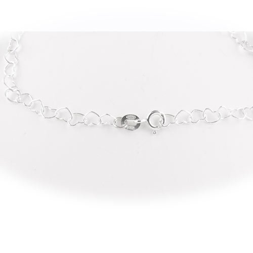 Heart Link Sterling Silver Nickel Free Chain