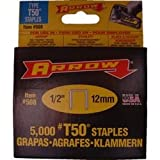 Arrow T50 Staples 12mm (1/2in) Box 5000