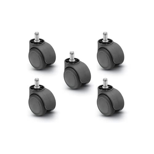 Shepherd Brand High Quality Urethane Replacement Chair Casters, Pack of 5