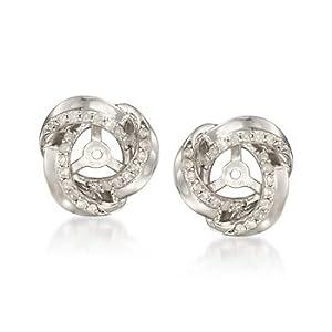 .30 ct. t.w. Diamond Earring Jackets in Sterling Silver