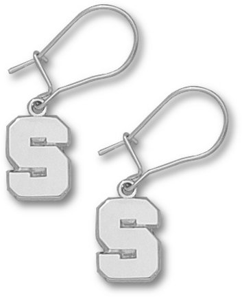 Michigan State Sterling Silver Dangle Earrings