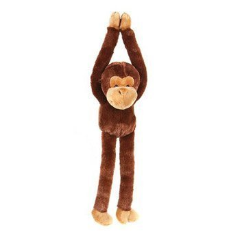 One Large Hanging Velcro Hand Stuffed Animal Plush Monkey