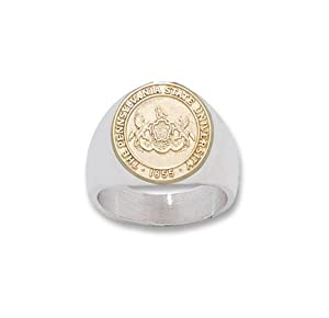 Penn State Nittany Lions 10KT Gold Seal Two Tone Mens Ring (Size 10 1 2) - Sterling... by Logo Art