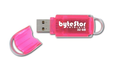 BYTESTOR - FLASH DRIVE COURIER PINK DATA - CLÉ USB 2.0 - 32 GO