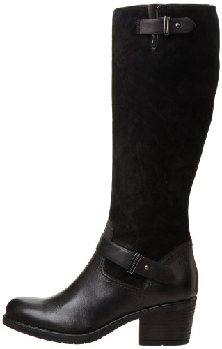 Clarks Women's Mojita Crush Boot,Black Leather,7.5 M US