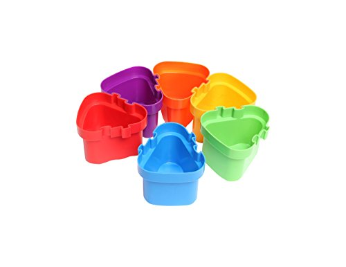 Center Enterprise CE6676 R2L Creative Connecting Pots (Pack of 6)