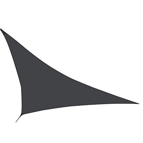 Excelente toldo vela triangular - 5 x 5 x 5 m - sombrilla / parasol - Color: Negro