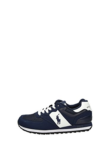 POLO RALPH LAUREN SLATON PONY NEWPORT navy scarpe uomo pelle sneakers