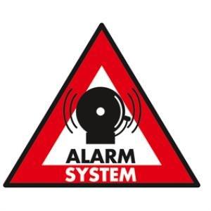 5 autocollants/sticker alarm system 123x148 mm