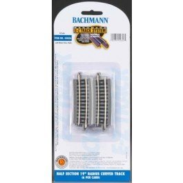"Bachmann Industries E-Z Track 17.50"" Radius Curved Track (6/card) N Scale - 1"