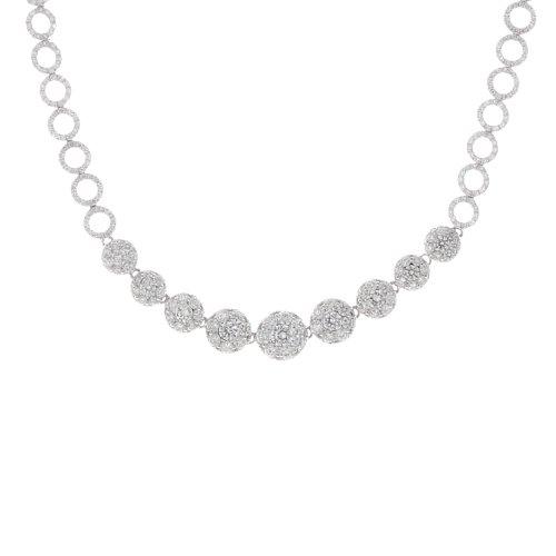 14k White Gold 5.63 Carat Diamond Circle Links