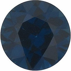 Round Shape Blue Sapphire Real Gem Stone, Quality Grade, A 0.03 carats 1.50 mm