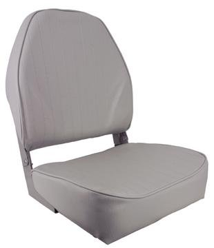 Springfield 1040643 Grey Economy Folding High Back Chair