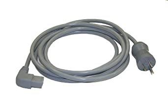 Interpower 86611120 North American Hospital Grade Cord Set, NEMA 5-15 Plug Type, Angled IEC 60320 C13 Connector Type, Gray, 13A Amperage, 125VAC Voltage, 3.66m Length