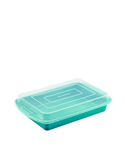 "SilverStone Non-Stick Ceramic 9"" x 13"" Covered Cake Pan, Marine Blue"
