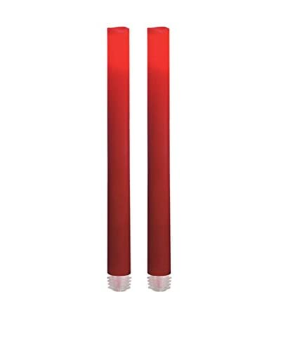 Candle Impressions Set of 2  Flameless Candle 9 Tapers, Red