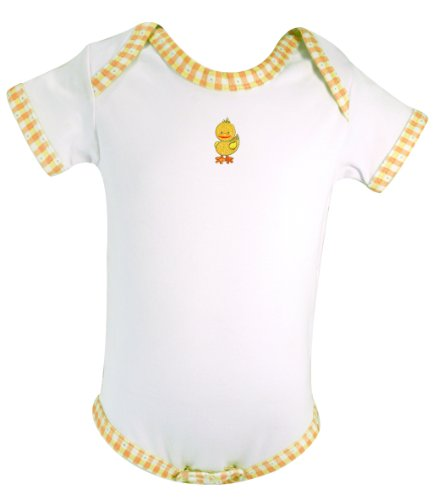 Stephan Baby All-in-One Diaper Cover with Embroidered Duck, Just Ducky, 6-12 Months