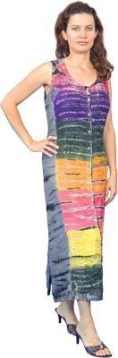 ~ Unique Bohemian Tye Dye Long Dress India ~