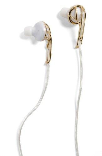 Ella-B Earbud Headphones - Gold/White