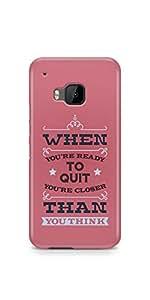 Casenation Dont Quit HTC One M9 Matte Case