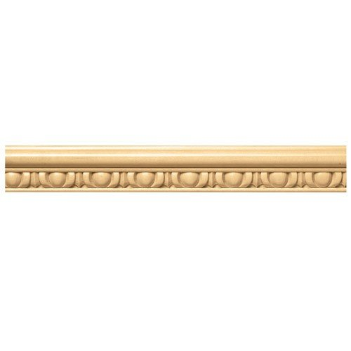 Brown Wood Inc. 01808002SM1 1-1/2-Inch Full Egg And Dart Decorative Flat Wood Molding, Soft Maple