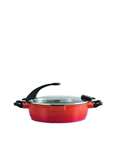 BergHOFF Virgo 11 Covered Non-Stick Deep Skillet, Orange